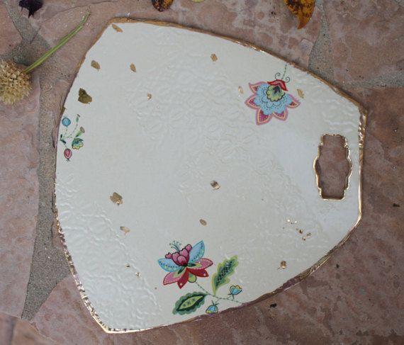 Handmade Ceramic Platter In Coastal Kitchen: Cheese Board Handmade Ceramic Tray Serving Platter Party
