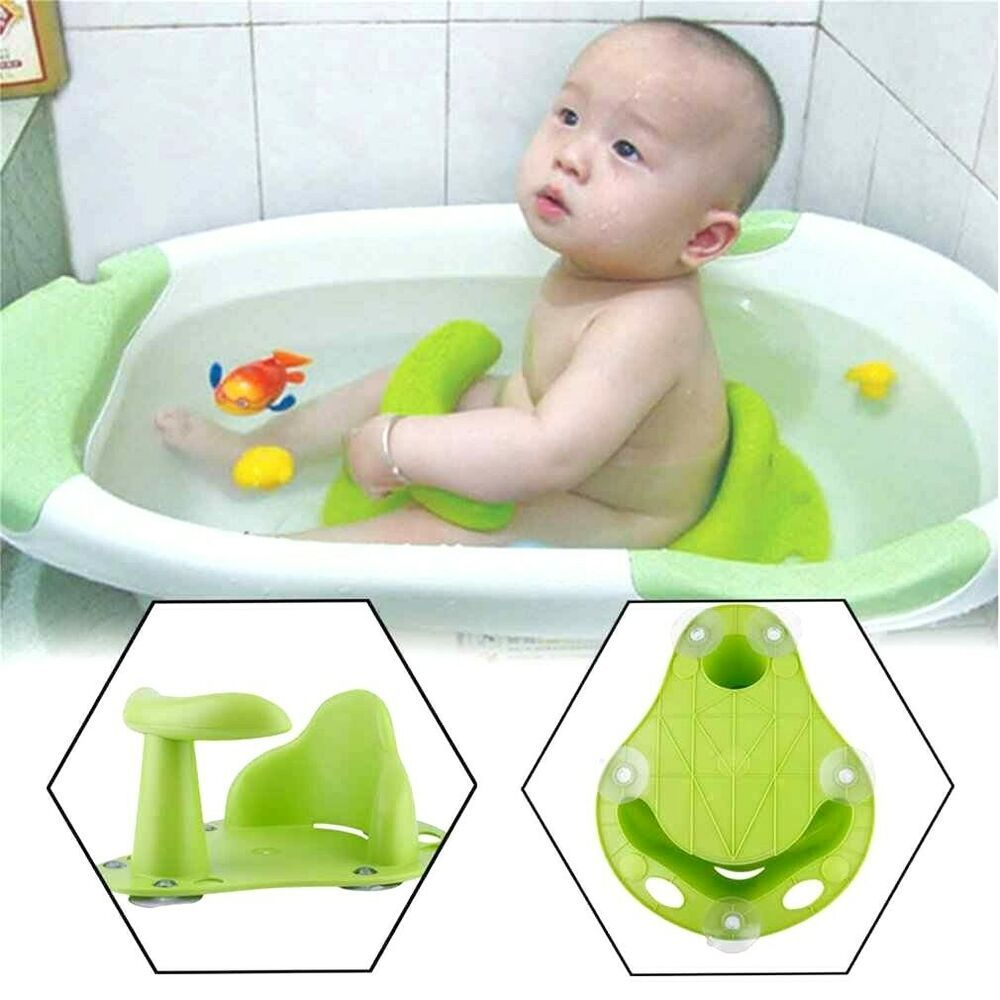 Tub Seat Baby Bathtub Pad Mat Chair Safety Security Anti Slip Baby