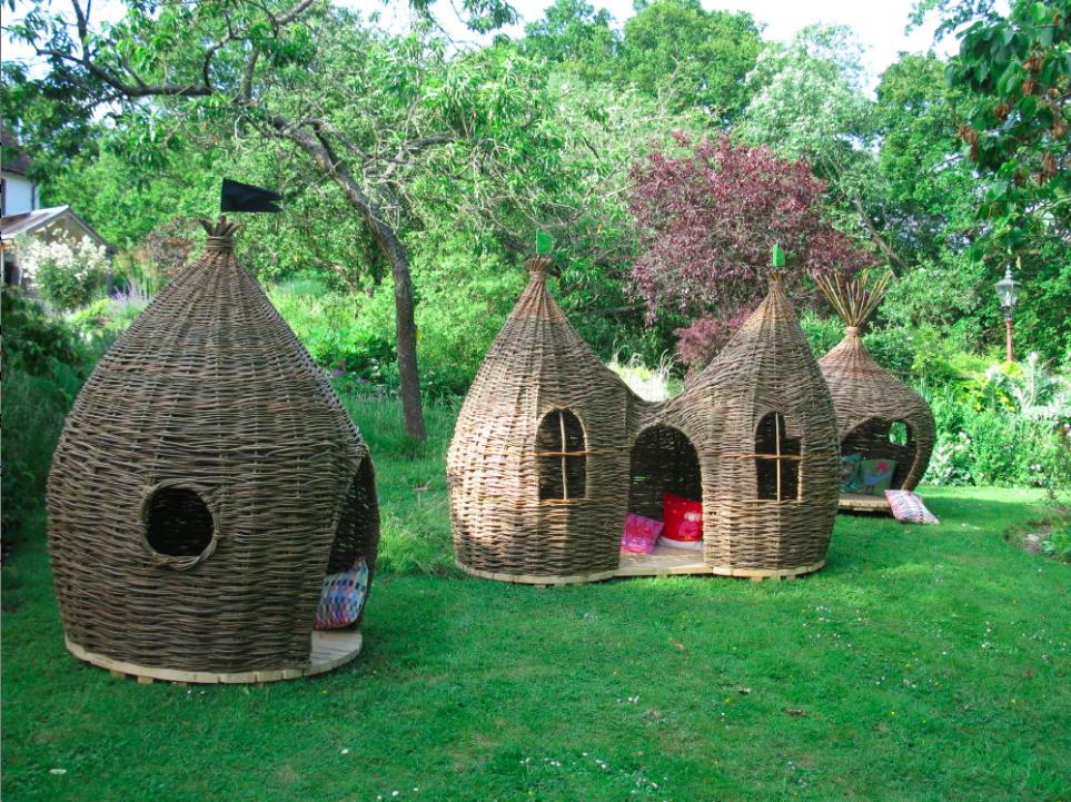 bamboo playhouse design c for on backyard