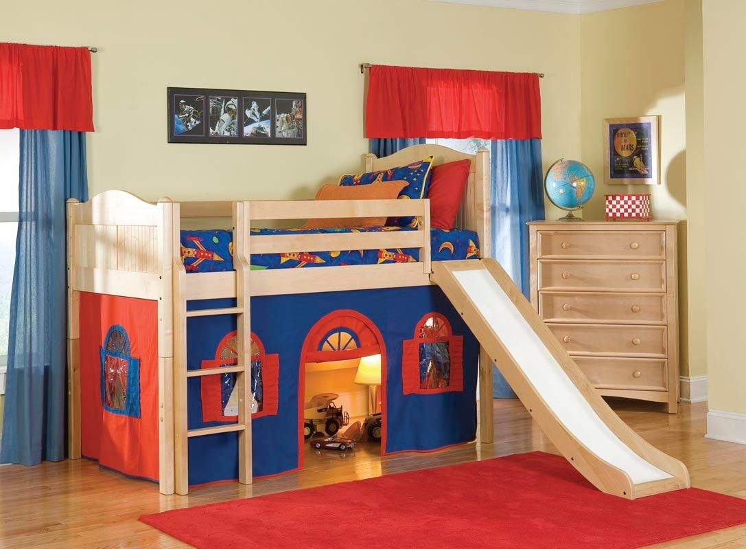 Boys loft bed with desk  Cool Kids Bunk Beds  Interior Paint Colors  Check more at