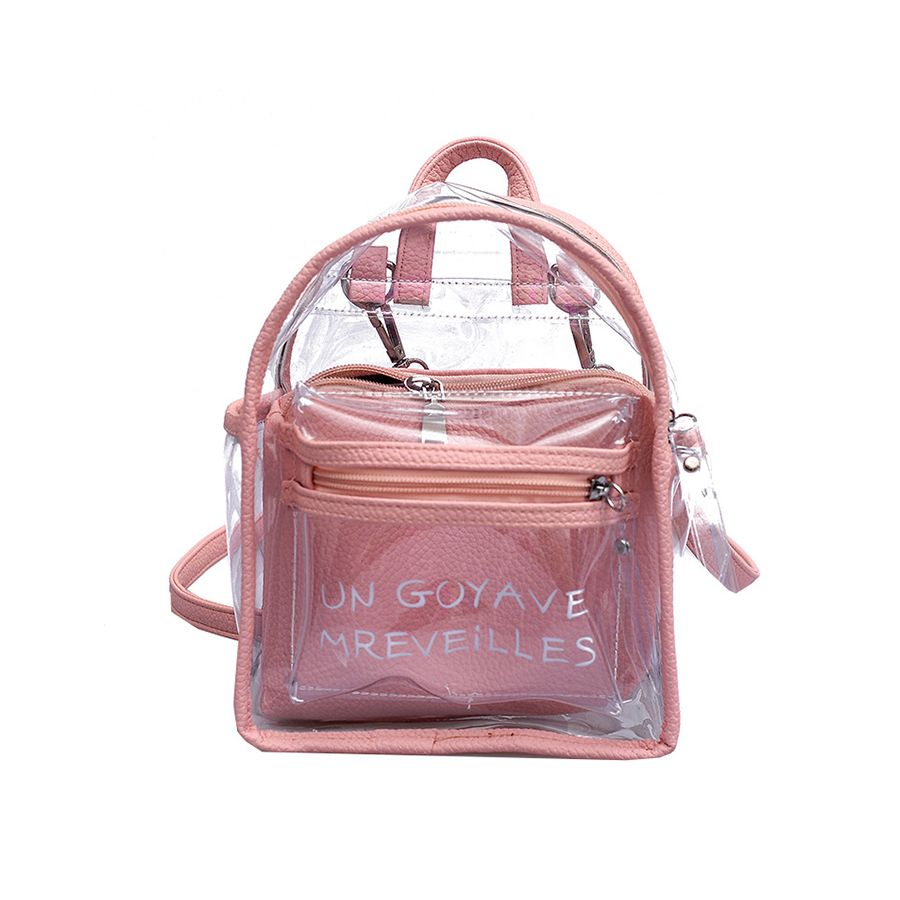Backpacks Dependable Waterproof Transparent Jelly Bag Girl Mini Clear Pvc Backpack Summer School Bags For Teenage Girls Letter Backpack Rugtas Mochil Luggage & Bags