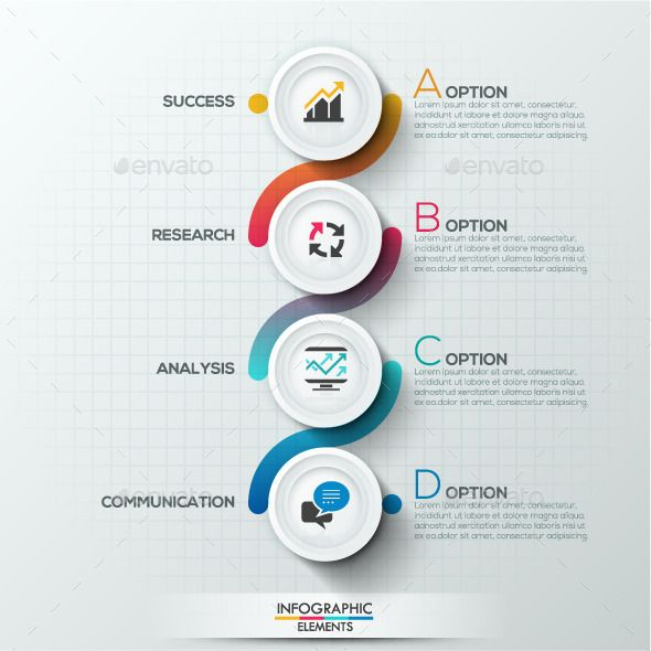 Modern Infographic Circle Template \u2014 Photoshop PSD #web #diagram
