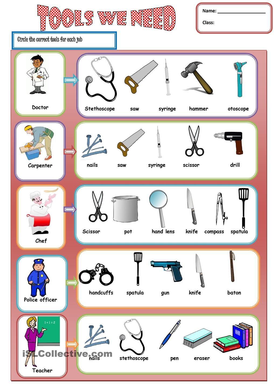 Tools we need 2   English vocabulary   Pinterest