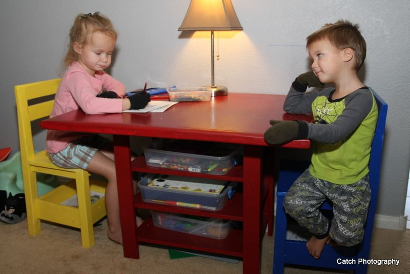 Kids Storage Table With Extra Storage Kids Table With Storage Diy Kids Table Kids Storage
