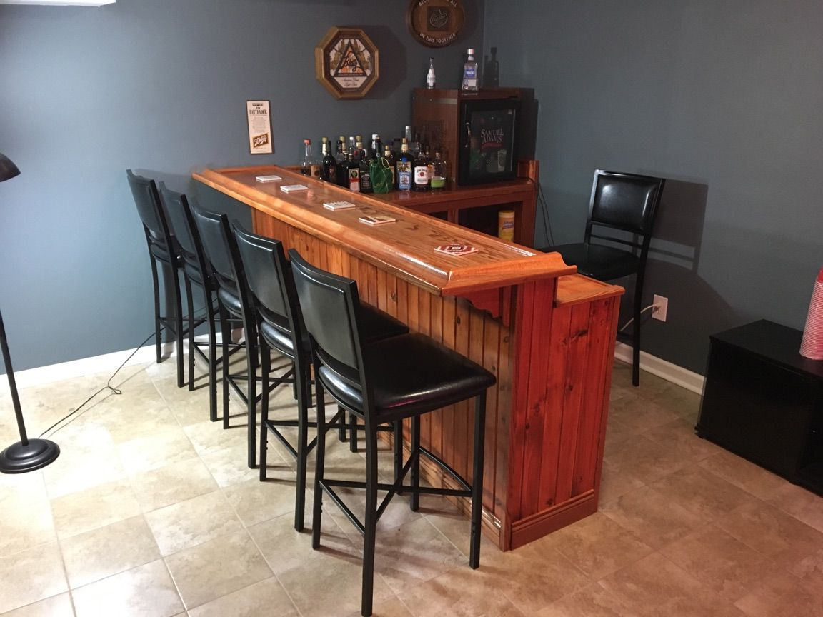 Over Budget Amp Over Schedule My Diy Basement Bar Amp Man Cave Handmade Crafts Howto Diy Man Cave Home Bar Diy Basement Basement Bar
