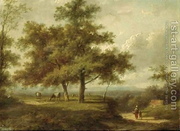 Forest Landscapes With Peasants On A Sandy Track Forest Landscape Landscape Painting