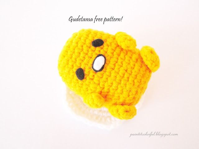 Amigurumi Gudetama - free crochet pattern at A little love everyday