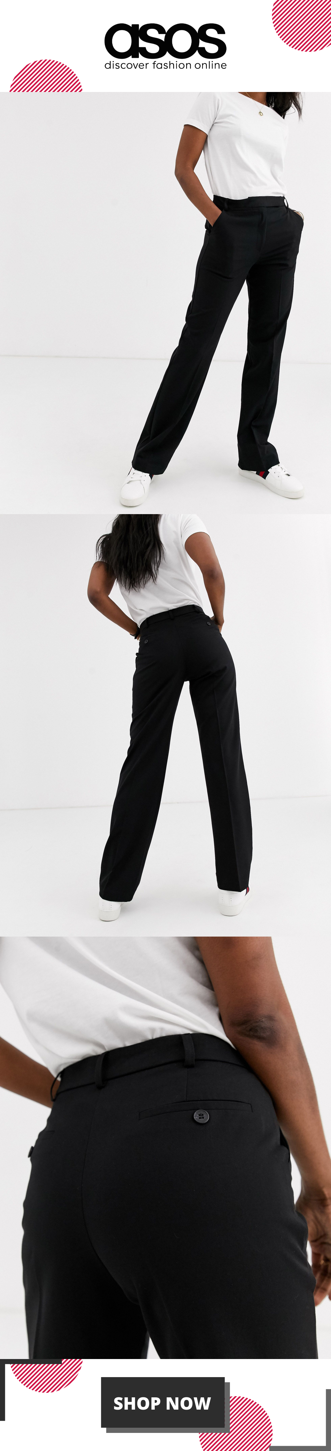 ASOS DESIGN tailored straight leg trousers