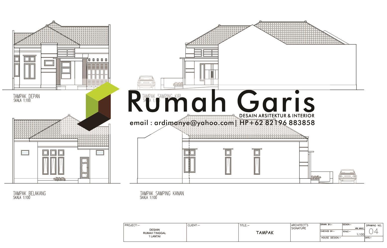 Jasa Gambar Rumah 2 Dimensi