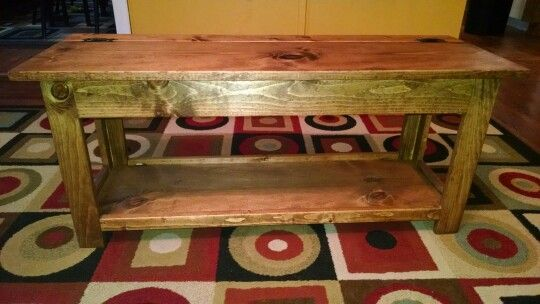 Entryway Bench With Storage.. Built With Pine. Finished With Dark Walnut  Watco Danish Oil