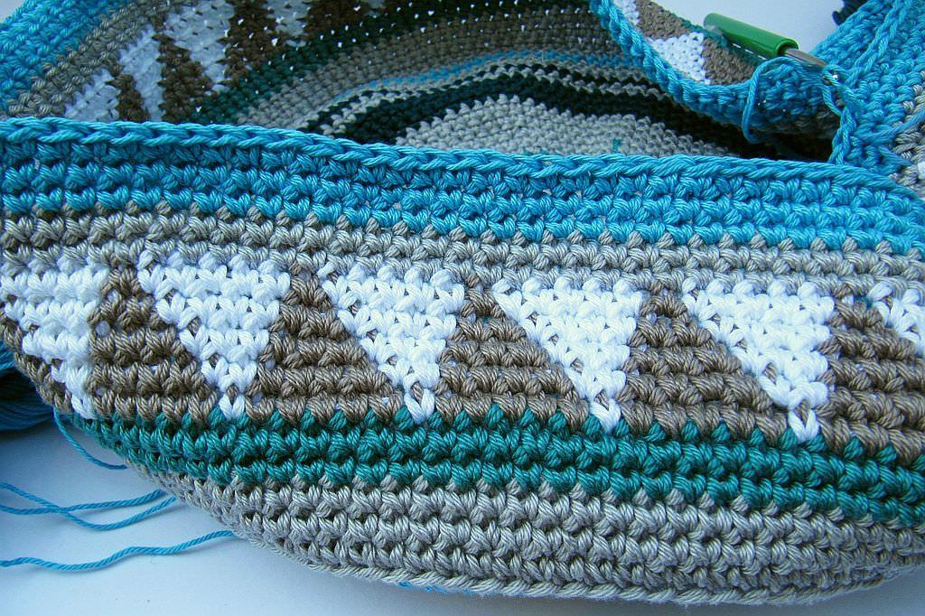 Taschen Crochetalong Teil 1 | Muster, Häkeln und Tasche häkeln