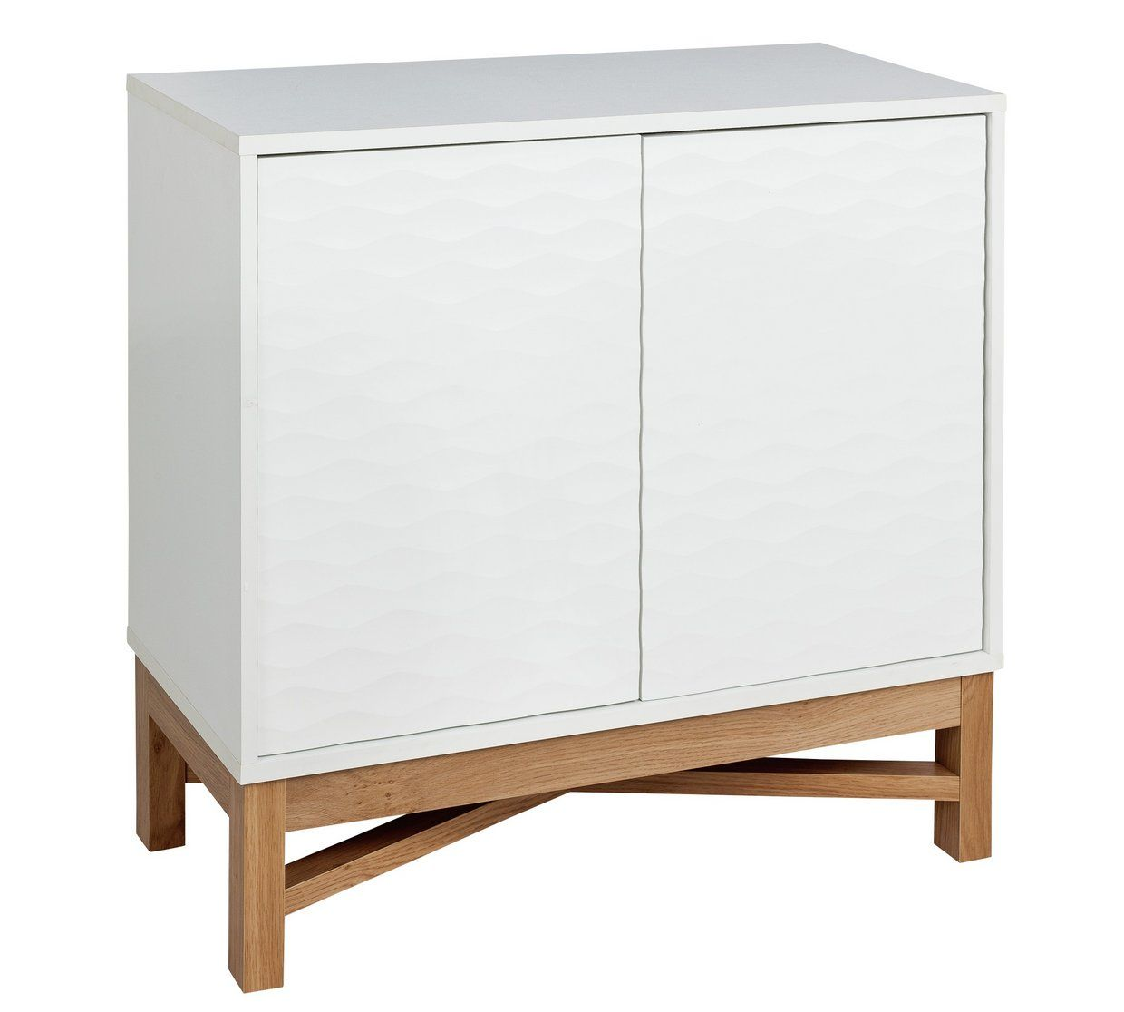 Buy Hygena Zander Textured Small Sideboard White Amp Oak