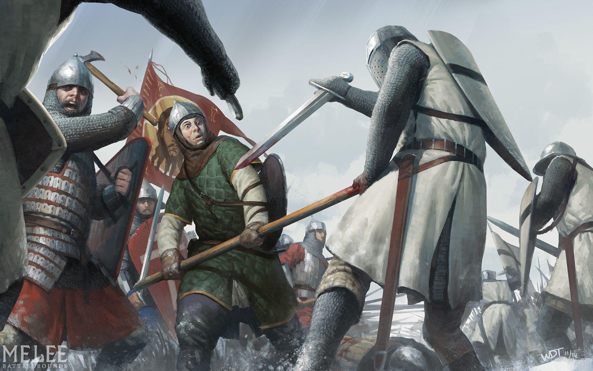 Картинка русич и рыцарь