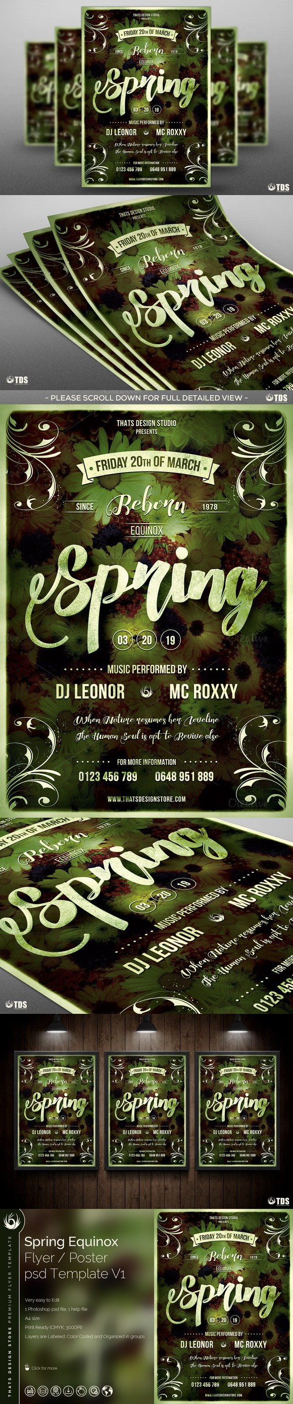 Spring Equinox Flyer Template V  Flyer Template Equinox And