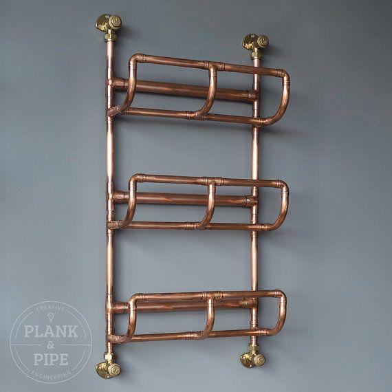 Copper Pipe Bathroom Towel Rack in an Industrial / Urban style  3