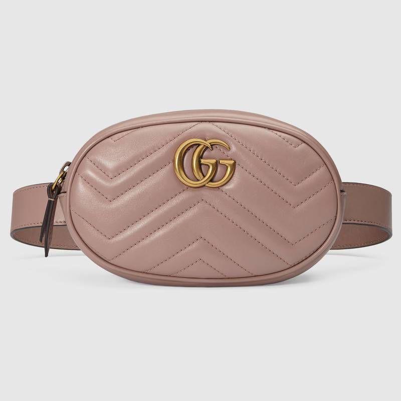 040db3136 Bolsa con Cinturón GG Marmont de Piel Matelassé | Bolsas | Leather ...
