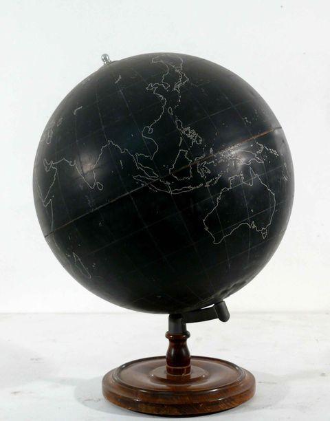 Vintage Black Slate Globe