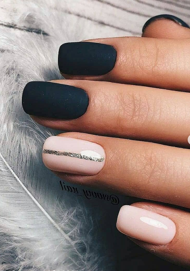 30 Fabulous Matte Nails Design For Short Nails Page 8 Of 30 Latest Fashion Trends For Woman Short Acrylic Nails Short Square Nails Almond Nails