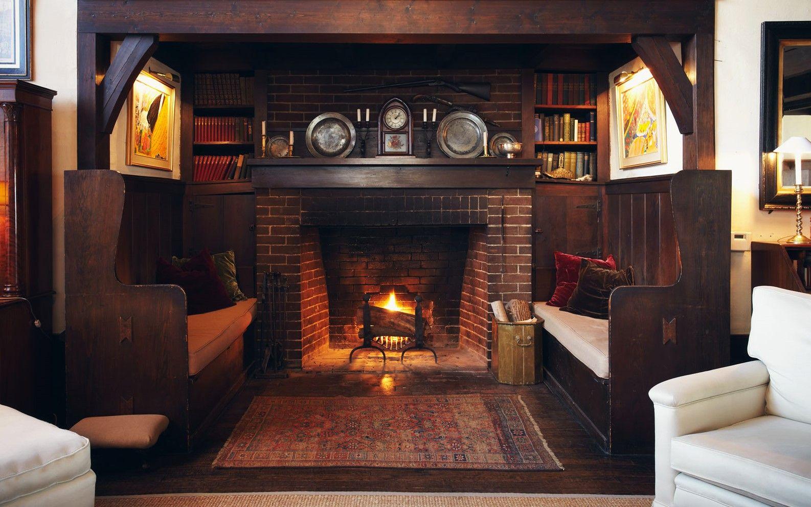 Craftsman Style Inglenook Craftsman Living Rooms Firep