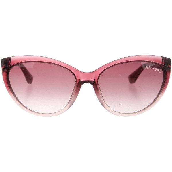 d92fab8676b7 Pre-owned Tom Ford Martina Cat-Eye Sunglasses ( 145) ❤ liked on ...