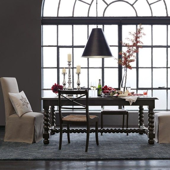 Bailey trestle dining table williams sonoma