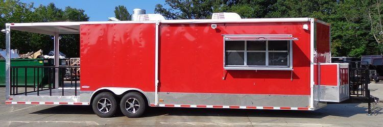 Concession trailer 85 x 30 smoker event bbq catering