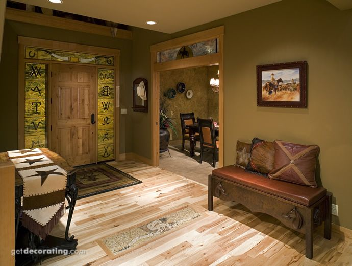 Love This Green Color With The Western Decor Western Home Decor Country House Interior Western Bedroom Decor