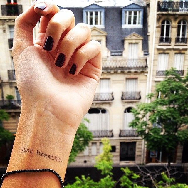 Just Breathe Tattoo Quotes Image Quotes At Hippoquotes Com: @skinfeelings Temporary Tattoos Just Breathe