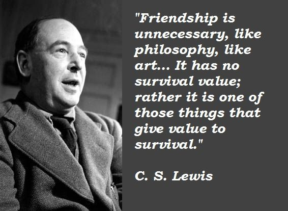 Popular Quotes About Friendship Magnificent My Beloved C.slewis1898  1963  Good Words  Pinterest