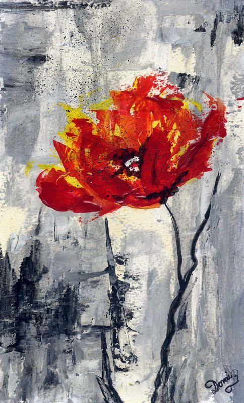 Joyeux Anniversaire Mimi Domi Dessins Et Peintures Coquelicots