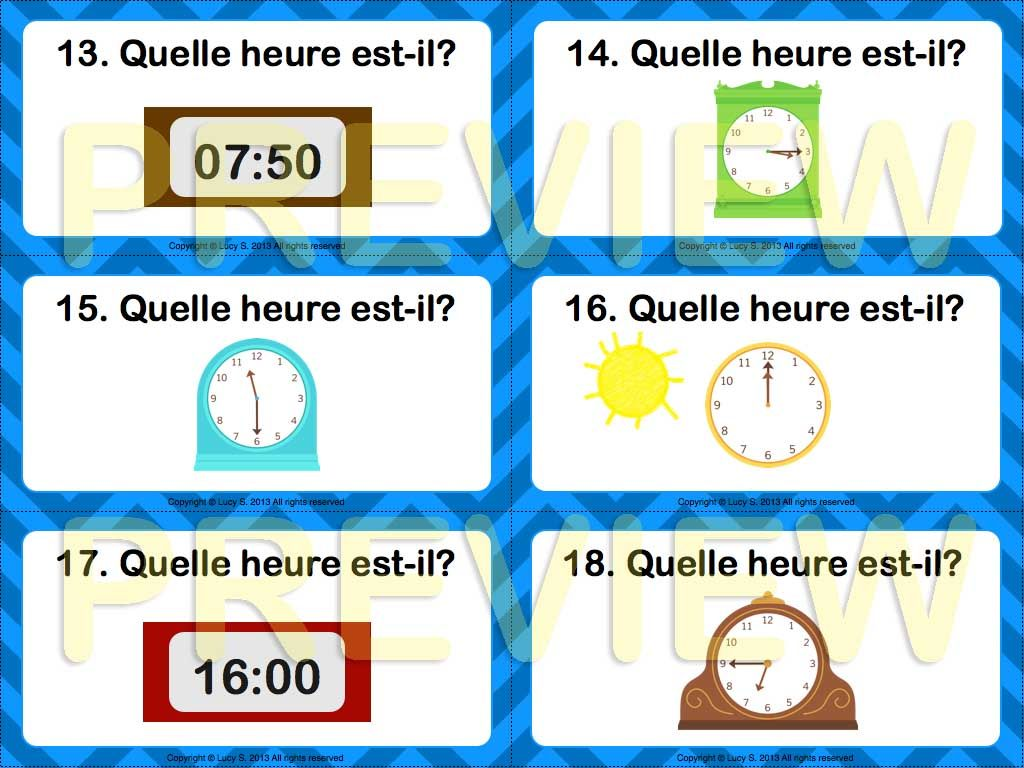 Task Cards In French Word Wall