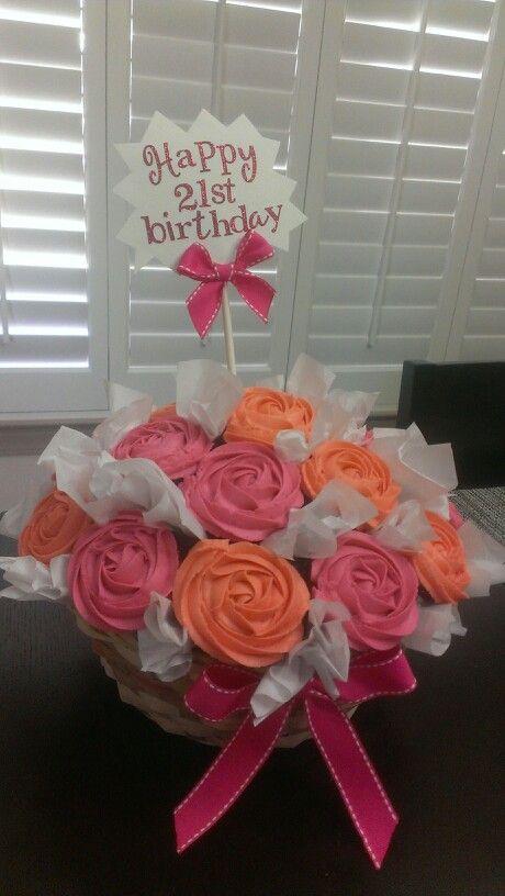 Cupcake bouquet, 21st birthday cupcakes   My cupcakes!   Pinterest ...