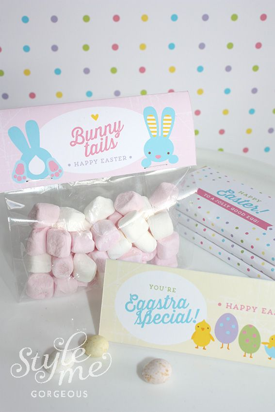 Cute little Easter gift idea for childrens classmates / teachers / friends. Easter printables by Style Me Gorgeous info@stylemegorgeous.com.au