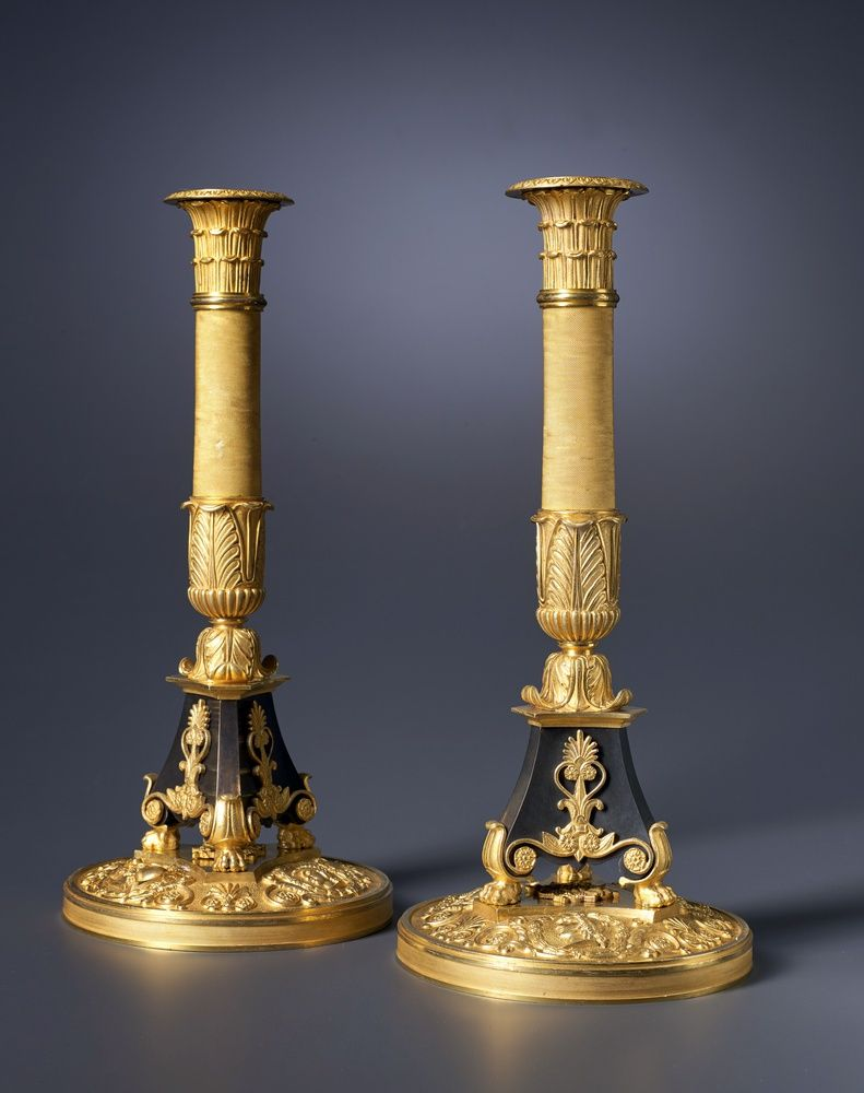 A Pair Of Empire Candlesticks Attributed To Pierre Philippe Thomire Con Immagini Candele Bug Turchese
