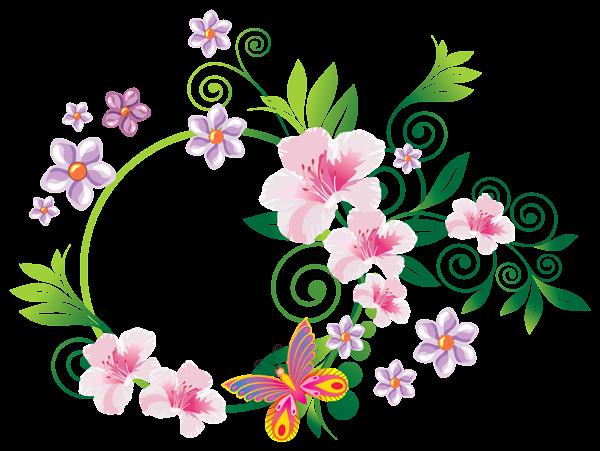 Floral Decoration PNG ClipArt Image