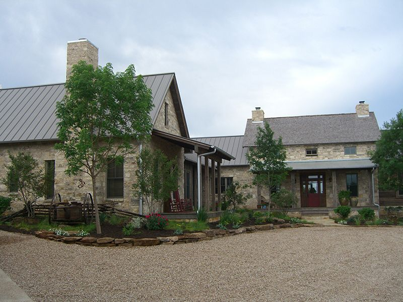 German Style Farm House Lakeline Seamless Gutters Farmhouse Exterior Hill Country Homes Farmhouse Landscaping