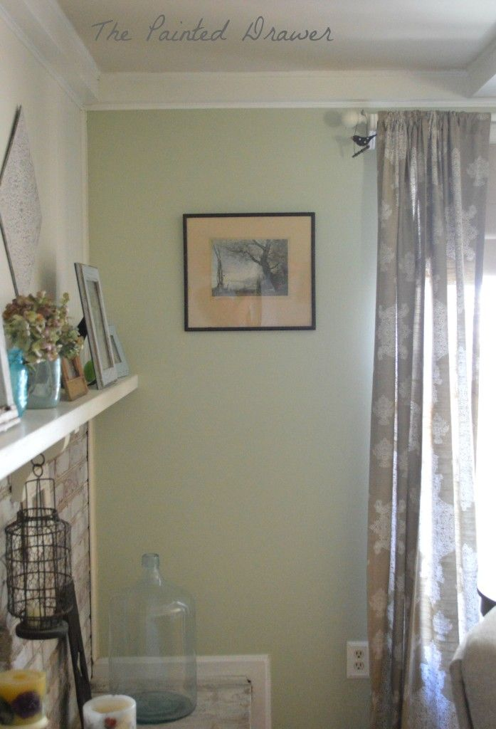 Green Family Stores >> Benjamin Moore Guilford Green Family Room With Thrift Store Finds