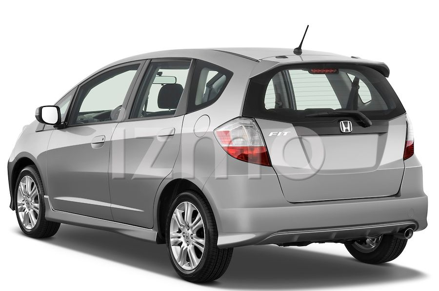 Rear View of Silver 2009 Honda Fit Sport Hatchback Honda