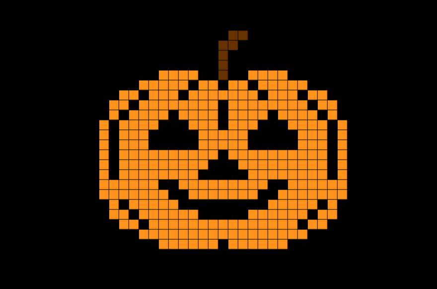 Halloween Pumpkin Pixel Art Pixel Art Pixel Art Grid Pixel Art Pattern
