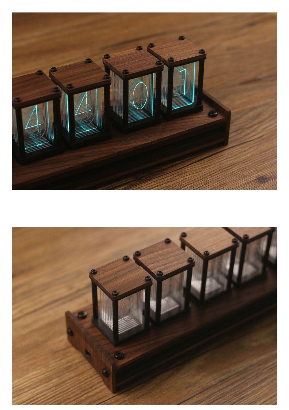 2019 的 RGB LED 6 Bit Glow Digital Clock Nixie Tube Clock