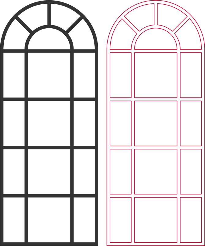 Arched Window Vector Dxf File Free Download 3axis Co Dxf Arched Windows Pattern