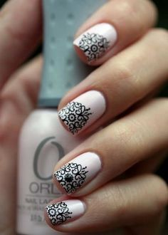 Everything but a french manicures that show off your new sophisticated nail art for short nails google search prinsesfo Gallery