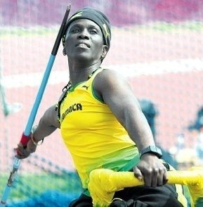 Jamaican Paralympian Sylvia Grant practices the javelin ...
