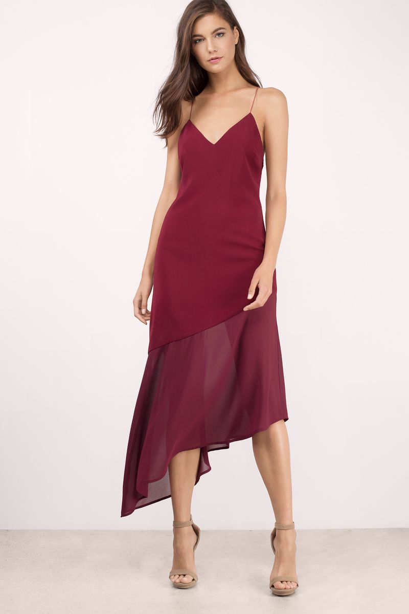 Two Of A Kind Midi Dress In Wine Womens Trendy Dresses Valentines Day Dresses Event Dresses [ 1200 x 800 Pixel ]