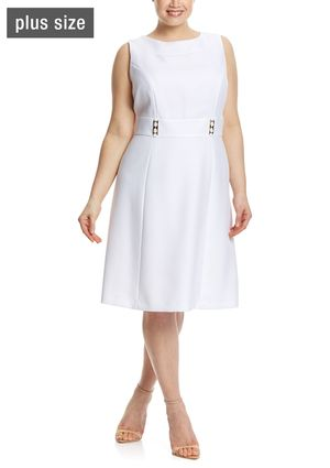 On ideel: TAHARI ARTHUR S. LEVINE Sleeveless Solid Thick Waistband Sheath