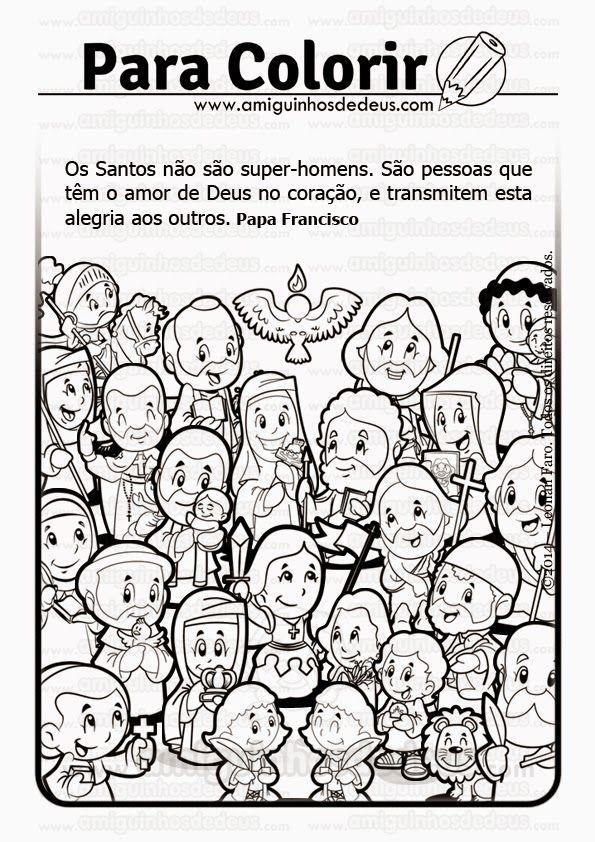 dia de todos os santos desenho para colorir katecheza pinterest