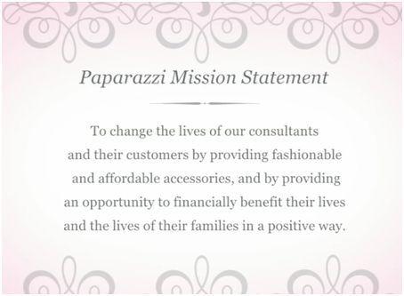 Paparazzi Mission Statement WwwPaparazziaccessoriesCom