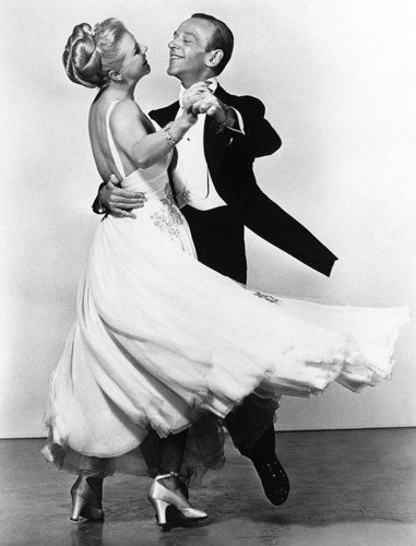Fred Astaire and Ginger Rogers - fabulous together. He knew how to make a woman look beautiful while dancing.