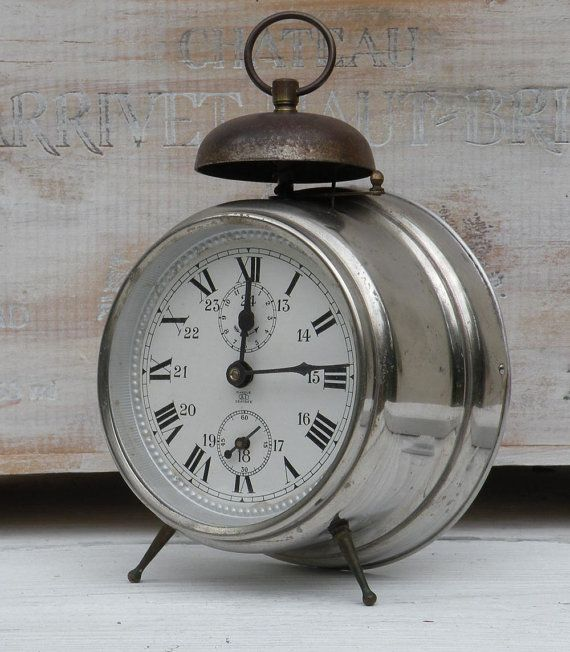 Large French Vintage Clocks French Alarm Clock Retro Alarm Clock