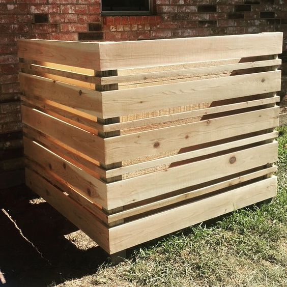 How To Hide An Air Conditioning Unit With A Diy Wood Screen Cool
